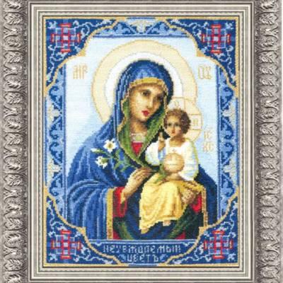 Набор для вышивки крестом Икона Божьей Матери Неувядаемый Цвет