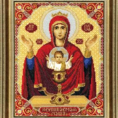 Набор для вышивки крестом Икона Пресвятой Богородицы Неупиваемая Чаша