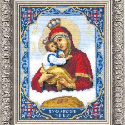 Набор для вышивки крестом Икона Пресвятой Богородицы Почаевской