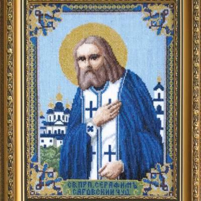 Набор для вышивки крестом Икона Преподобного Серафима Саровского Чудотворца