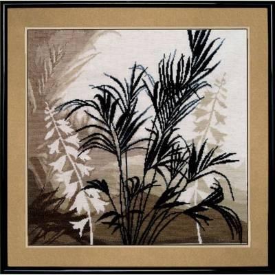 Набор для вышивки крестом Триптих Пальмовые листья