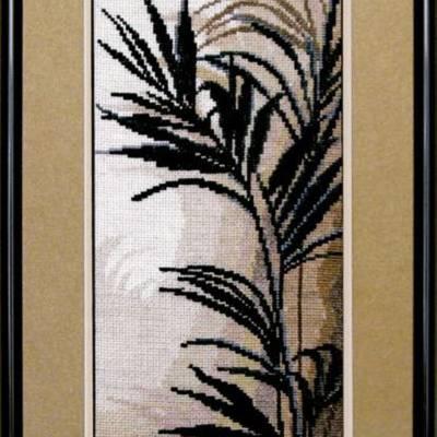 Набор для вышивки крестиком Триптих Пальмовые листья