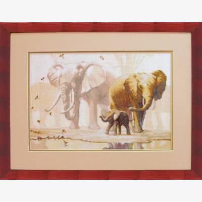 Набор для вышивки крестом Слоны