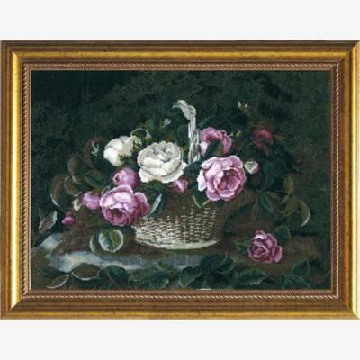 Набор для вышивки крестом &quot,Розы в корзине