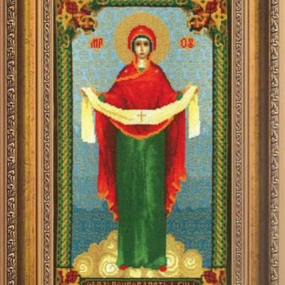 Набор для вышивки крестом Образ Пресвятой Богородицы Покрова
