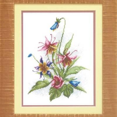 Набор для вышивки крестом &quot,Цветы лета&quot,