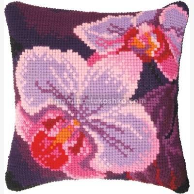 Набор для вышивки крестом: Подушка Орхидея