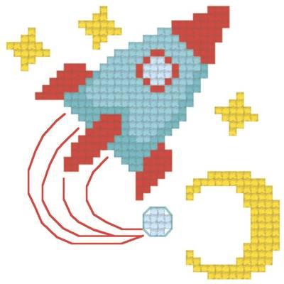 Схема для вышивания крестиком на водорастворимой канве Через тернии к звёздам