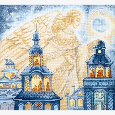 фото: картина, вышитая крестиком, Ангел