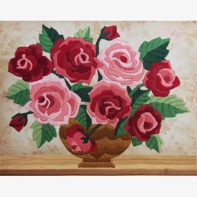 Набор для вышивки нитками Ароматные розы