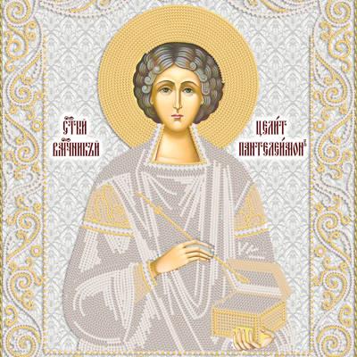 Схема для вышивки бисером иконы Св. Вмч. Пантелеймон Целитель