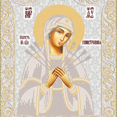 Схема для вышивки бисером Образ Пресвятой Богородицы Семистрельная