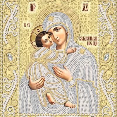 Схема для вышивки бисером Владимирская икона Божией Матери