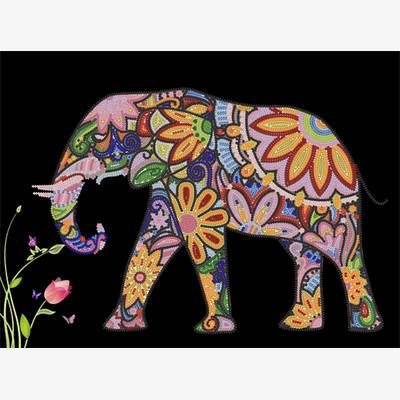 Схема для вышивки бисером Пестрый слон