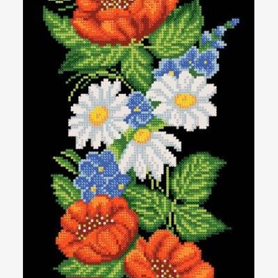 Схема для вышивки бисером Грация. Маки