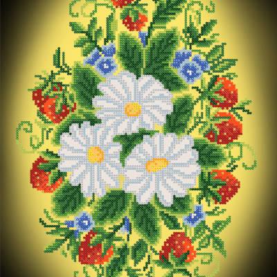 Схема для вышивки бисером Застенчивая красота