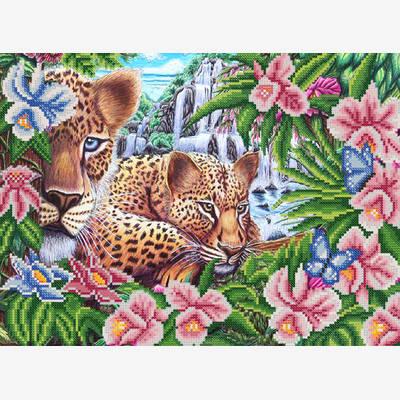 Схема для вышивки бисером В джунглях