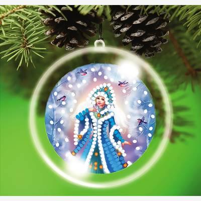 Схема-заготовка для вышивки новогодней игрушки Снегурочка