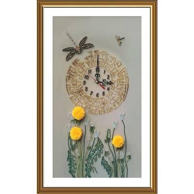 фото: вышитые часы, Золотое время