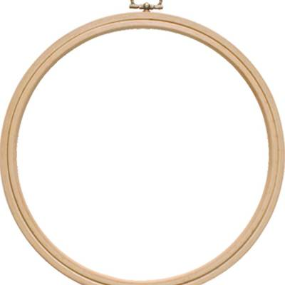 Пяльцы-рамка круг, деревянные с подвесом, диаметр 220 мм