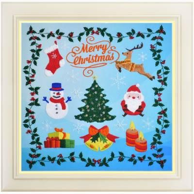 Набор для вышивки нитками в стиле Rococo Merry Christmas