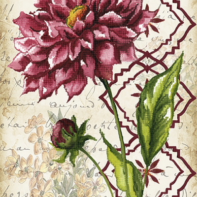 Схема для вышивки бисером Винтаж. Георгина
