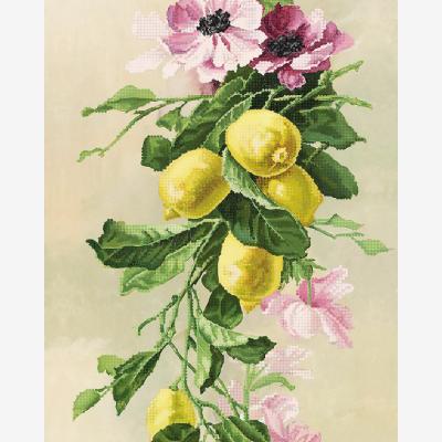 Схема для вышивки бисером Букет с лимонами