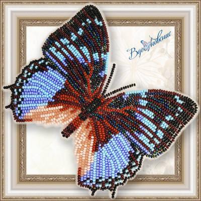 Набор для вышивания бисером на пластиковой канве Бабочка Харакс Смарагдалис