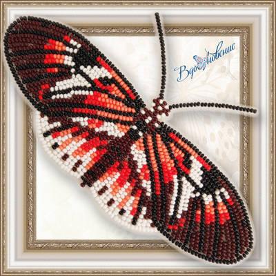 Набор для вышивания бисером на пластиковой канве Бабочка Геликония фортепиано