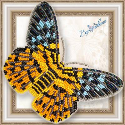 Набор для вышивания бисером на пластиковой канве Бабочка DYSPHANIA MILITARIS