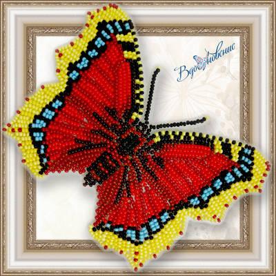 Набор для вышивания бисером на пластиковой канве Бабочка NYMPHALIS ANTIOPA
