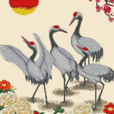 Схема для вышивки бисером Журавли