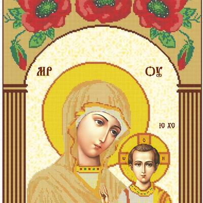 Схема для вышивки бисером Икона Б.М. Казанская