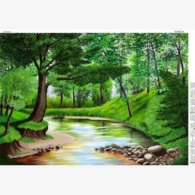 Схема для вышивки бисером Лесной ручей