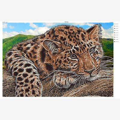 Схема для вышивки бисером Леопард