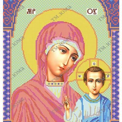 Схема для вышивки бисером Казанская икона Божьей Матери