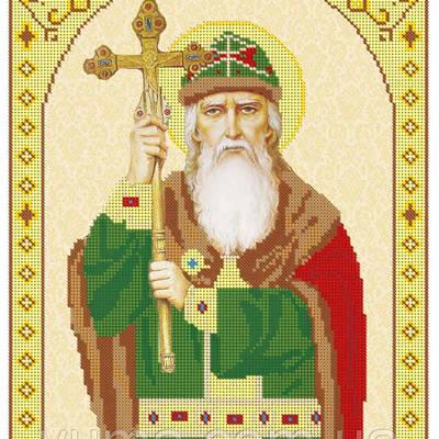 Схема для вышивки бисером иконы Св. Владимир Великий