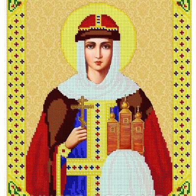 Схема для вышивки бисером иконы Св. Ольга