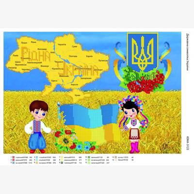 Схема для вышивки бисером Символика Украины