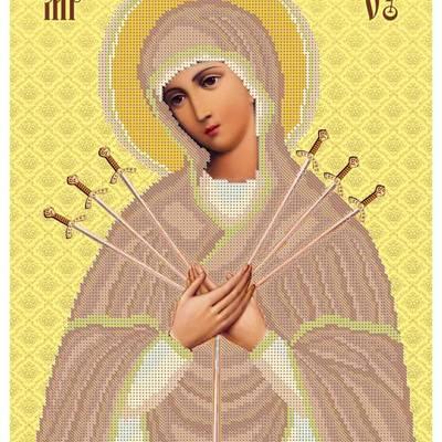 Схема для вышивки бисером Икона Божией Матери Семистрельная