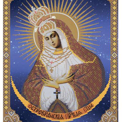 Схема для вышивки бисером Икона Божией Матери Остробрамская