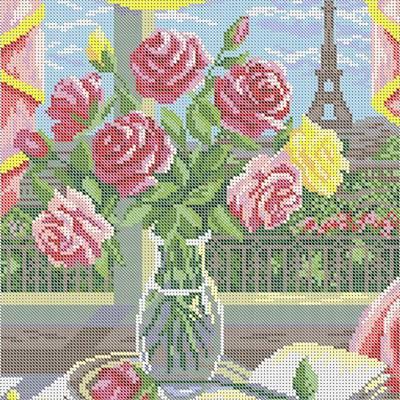 Схема для вышивки бисером Французский натюрморт