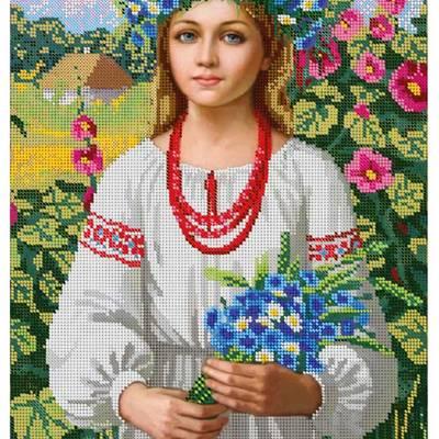 Схема для вышивки бисером Украинка