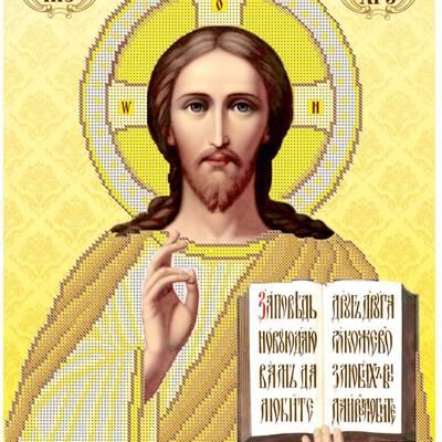 Схема для вышивки бисером Икона Иисус Христос Вседержитель