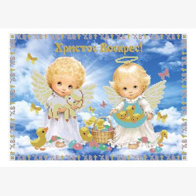 Схема для вышивки бисером Пасхальные ангелочки