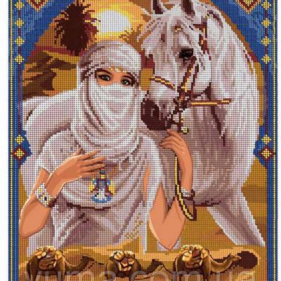 Схема для вышивки бисером Принцесса Пустыни