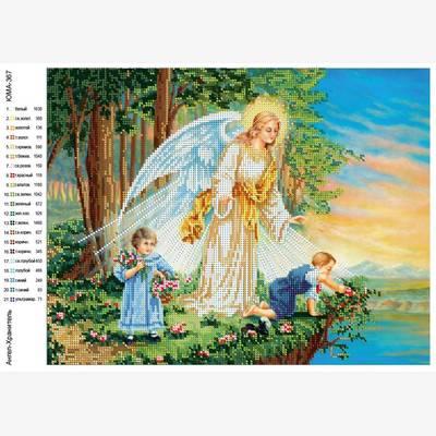 Схема для вышивки бисером Ангел хранитель