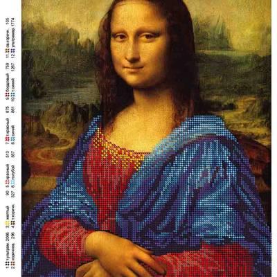Схема для вышивки бисером Мона Лиза