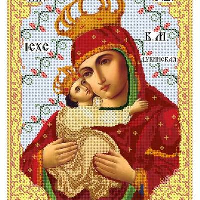 Схема для вышивки бисером Дубенская икона Божией Матери