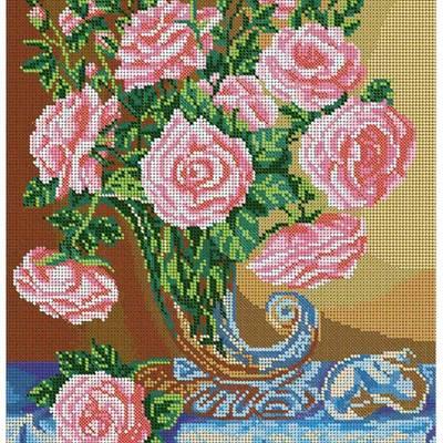 Схема для вышивки бисером Букет чайных роз